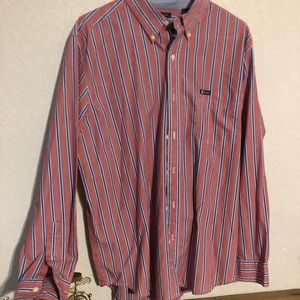 Chaps button up men's red shirt